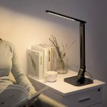 TaoTronics LED Desk Lamp with USB Charging Port and Memory Function