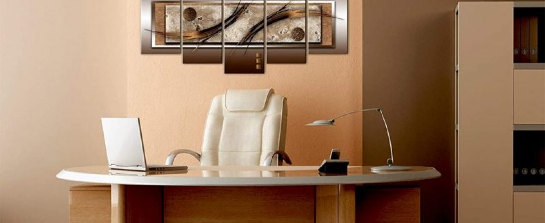 Canvas Prints Wall Art Delicate Shapes and Warm Colors